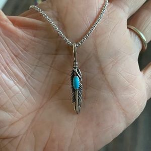 Jewelry - 👼👼 NEW👼👼 Sterling Silver Feather Necklace